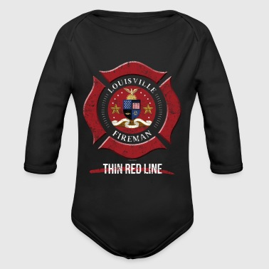 Louisville Firefighter Shirt Firefighter Gifts Kentucky Shirt - Long Sleeve Baby Bodysuit