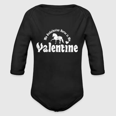 My Anti Valentine Andalusian Horse - Long Sleeve Baby Bodysuit