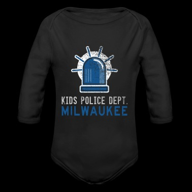 Future Police Officer Police Kids Milwaukee Shirt - Long Sleeve Baby Bodysuit
