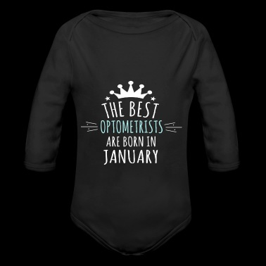 Born OPTOMETRISTS are born in january - Long Sleeve Baby Bodysuit