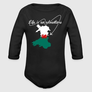 Welsh Life Is An Adventure - Long Sleeve Baby Bodysuit