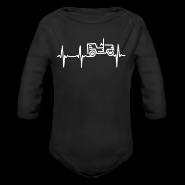 Heart Beat Jeep - Long Sleeve Baby Bodysuit