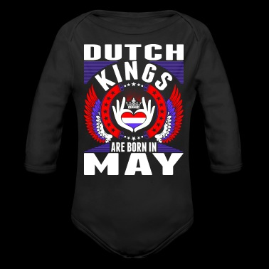 Dutch Kings Are Born In May - Long Sleeve Baby Bodysuit