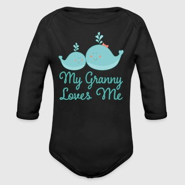 Granny Loves Me Whale - Organic Long Sleeve Baby Bodysuit