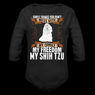 My Freedom My Shih Tzu Dog - Long Sleeve Baby Bodysuit