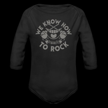 We Know How To Rock - Organic Long Sleeve Baby Bodysuit