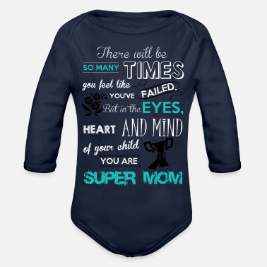 Super-mom SUPER MOM - Organic Long Sleeve Baby Bodysuit