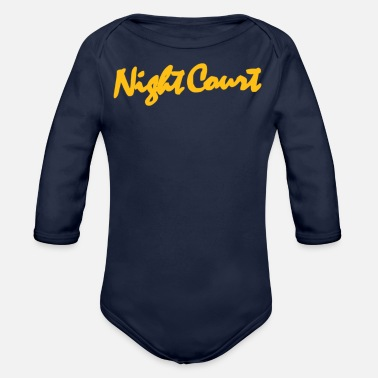 Court Night Court - Organic Long-Sleeved Baby Bodysuit
