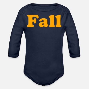 Fall Fall - Organic Long-Sleeved Baby Bodysuit