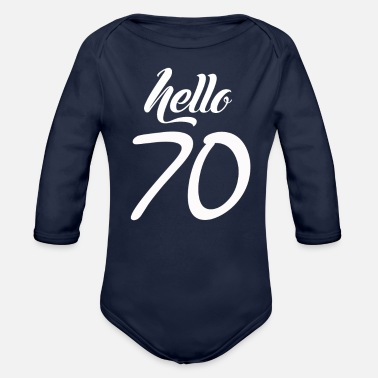 70s Hello 70 - Organic Long Sleeve Baby Bodysuit