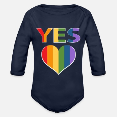 Marriage Equality Yes to marriage equality Australia - Organic Long-Sleeved Baby Bodysuit