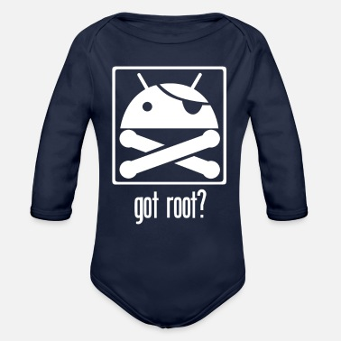 Android Got Root Android Root - Organic Long-Sleeved Baby Bodysuit