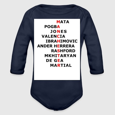 Manchester United Shirt - Organic Long Sleeve Baby Bodysuit