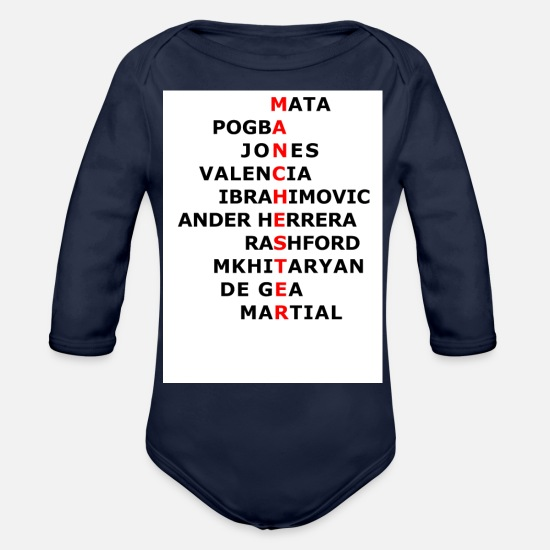 quality design 27bbc 6e751 Manchester United Shirt Organic Long-Sleeved Baby Bodysuit ...