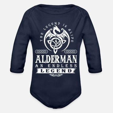 Surname ALDERMAN - Organic Long-Sleeved Baby Bodysuit