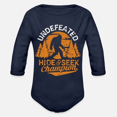 Undefeated Undefeated hide and seek champion - Organic Long-Sleeved Baby Bodysuit