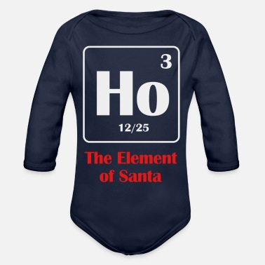 the element of santa - Organic Long-Sleeved Baby Bodysuit