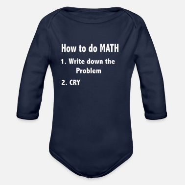 Prohibitory Sign math - Organic Long-Sleeved Baby Bodysuit