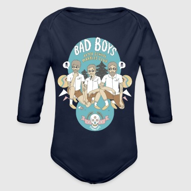 Bad Boys - Organic Long Sleeve Baby Bodysuit
