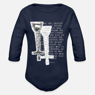 Antichrist Antichrist design 1 - Organic Long Sleeve Baby Bodysuit