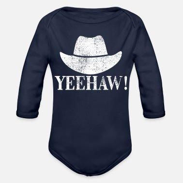 Western Riding Cowboy Western riding - Organic Long Sleeve Baby Bodysuit