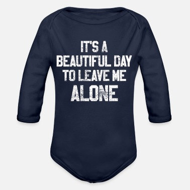 Asocial Alone human aversion Asocial - Organic Long-Sleeved Baby Bodysuit
