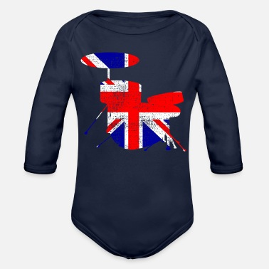 Uk UK drums - Organic Long Sleeve Baby Bodysuit