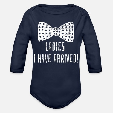Baby Sayings Chic baby romper saying - Organic Long Sleeve Baby Bodysuit