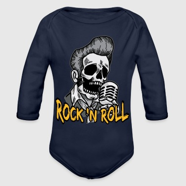 Psychobilly Rock N Roll Psychobilly - Organic Long Sleeve Baby Bodysuit