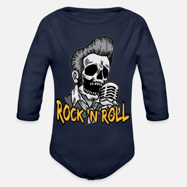 Rock N Roll Rock N Roll Psychobilly - Organic Long Sleeve Baby Bodysuit