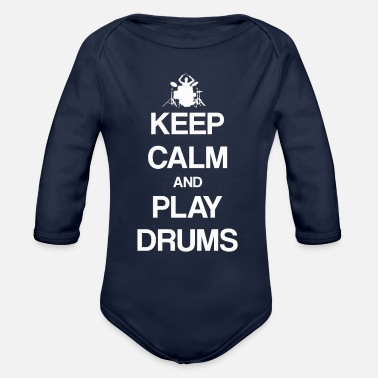 Drums Drums drums drums - Organic Long-Sleeved Baby Bodysuit