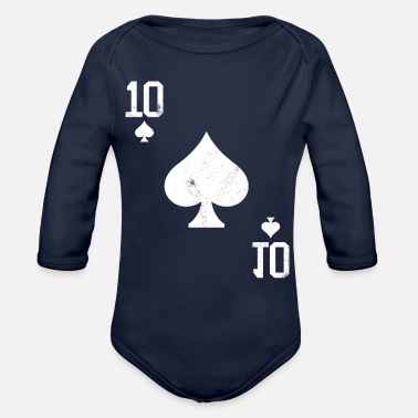 Pik Poker 10 Card Game Pik Vintage - Organic Long-Sleeved Baby Bodysuit