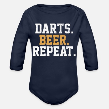 Bar Pub Dart Beer Bar Pub Vintage Arrow - Organic Long-Sleeved Baby Bodysuit