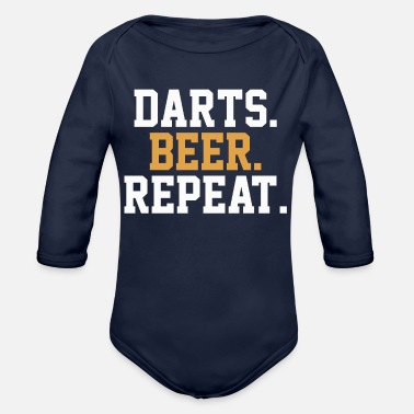 Bar Pub Dart Beer Pub Bar - Organic Long-Sleeved Baby Bodysuit