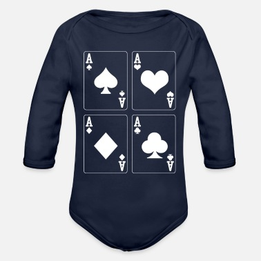 Poker Poker As - Organic Long-Sleeved Baby Bodysuit