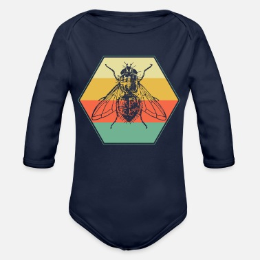 Fly Fly - Organic Long Sleeve Baby Bodysuit