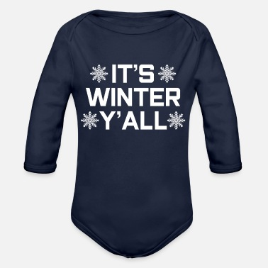 Winter Winter winter - Organic Long-Sleeved Baby Bodysuit