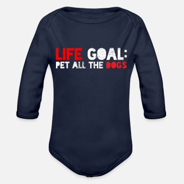 Caress Dogs love caressing - Organic Long-Sleeved Baby Bodysuit