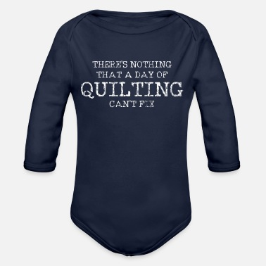 Quilting Quilting Sewing Quilt - Organic Long-Sleeved Baby Bodysuit