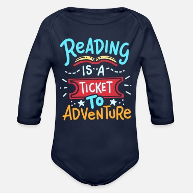 Read Reading Read - Organic Long-Sleeved Baby Bodysuit