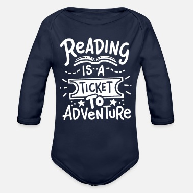 Read Reading Reading Reading - Organic Long-Sleeved Baby Bodysuit
