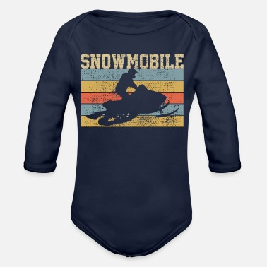 Snowmobiling Snowmobile Snowmobile - Organic Long-Sleeved Baby Bodysuit
