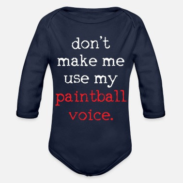 Paintball Paintball Paintball Paintball - Organic Long-Sleeved Baby Bodysuit