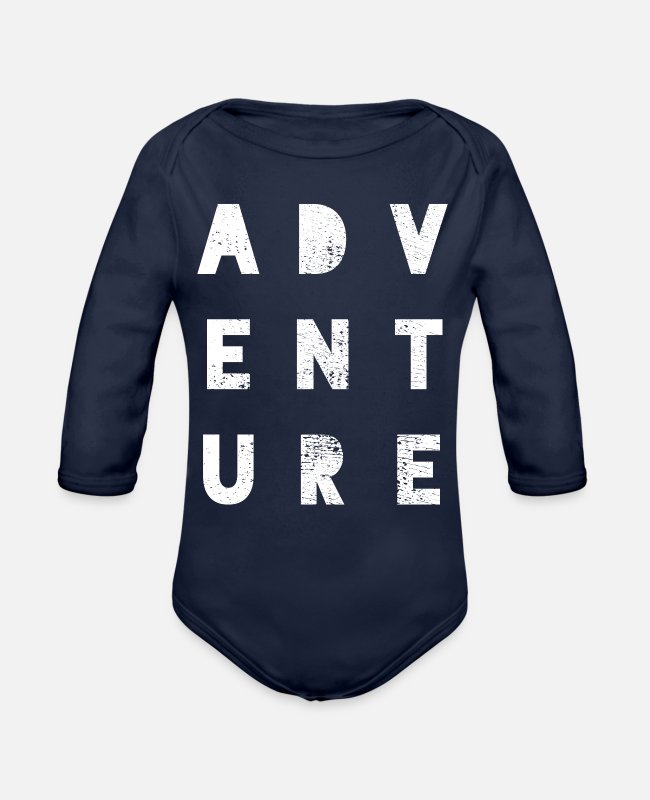 Nature Baby One Pieces - Adventure - Organic Long-Sleeved Baby Bodysuit dark navy