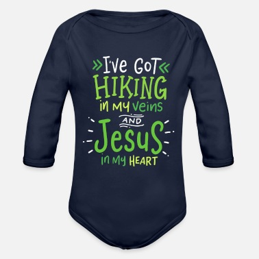 Funny Hiking Hiking Gifts, Funny Hiking - Organic Long-Sleeved Baby Bodysuit