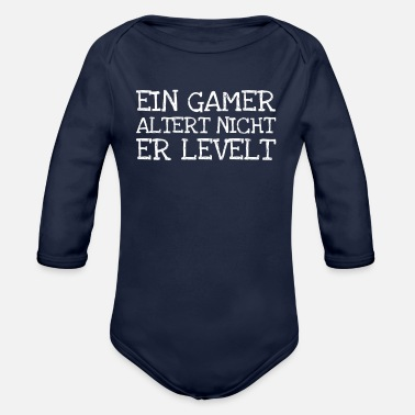 Alterter Ein Gamer Altert Nicht Er Levelt - Organic Long-Sleeved Baby Bodysuit