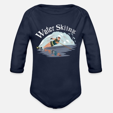 Skiing water skiing - Organic Long-Sleeved Baby Bodysuit
