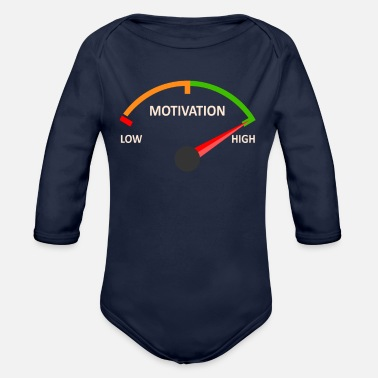Wealthy Motivational tempometer - Organic Long-Sleeved Baby Bodysuit