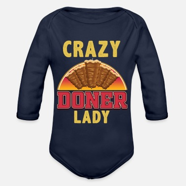 Doner Crazy doner lady - Organic Long-Sleeved Baby Bodysuit