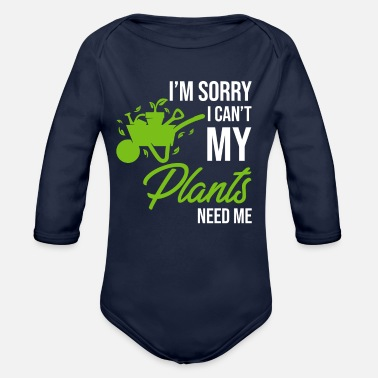 Sow Im soory i cant my plants need me - Organic Long-Sleeved Baby Bodysuit